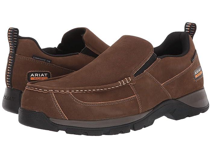 Ariat  Edge LTE Slip-On SD (Dark Brown) Mens  Shoes