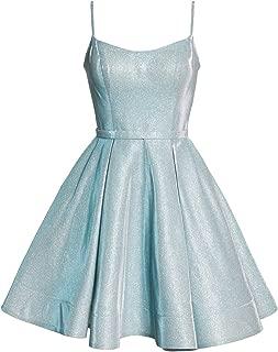 Vivian's bridal Women's Spaghetti Strap Prom Dress Glittery Homecoming W/ Pockets