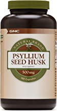 GNC Natural Brand Psyllium Seed Husk 500mg, 180 Capsules, Supports Digestive Health