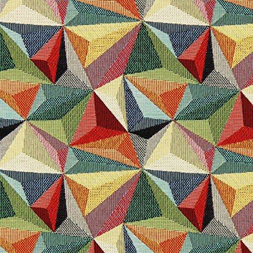 Fabulous Fabrics Jacquard Gobelin Stern Ornament — Meterware ab 0,5m — zum Nähen von Dekoration, Kissen und Tischdecken