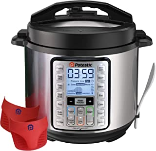 Potastic 6Qt 10-in-1 Programmable Pressure, LCD Display,Instant Cooking with Stainless..