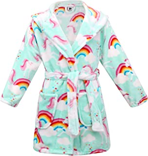 Image of Colorful Pegasus and Rainbow Robe for Toddler Girls and Girls