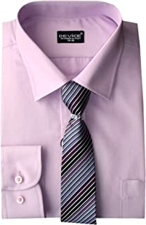 Aelstores Boys Formal Shirt Long Sleeve Tie Set Smart Party Wedding Shirts 6 Months - 15 Years