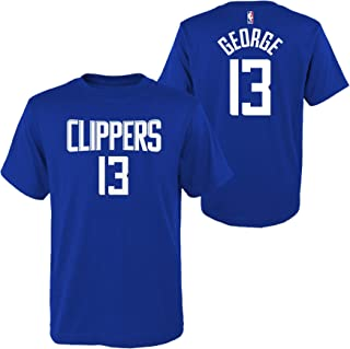 Outerstuff Paul George Los Angeles Clippers #13 Youth Player Name & Number T-Shirt Blue