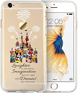 Shellstyle Cartoon Movie Character Themed Fan Art Clear Hybrid TPU Surround with Hard Back Cover Case for iPhone 5/5C/SE Range
