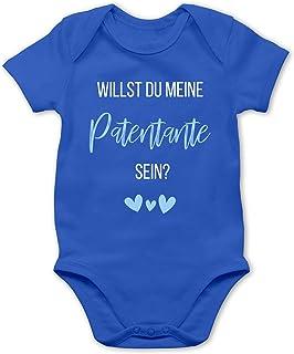 Shirtracer Zur Geburt - Willst du Meine Patentante Sein Babyblau - Baby Body Kurzarm für Jungen und Mädchen