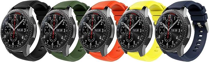 TiMOVO Pulsera Compatible con Samsung Gear S3 Frontier/Galaxy Watch 46mm, [5-Pack] Pulsera de Silicona, Correa de Reloj Deportivo, Banda de Reloj de Silicona - Multi Color B