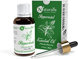 Naturalis Essence of Nature Peppermint Essential Oil 100% Undiluted Pure and Natural Therapeutic grade for Hair Growth, Sk...