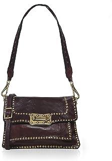 Campomaggi Women's Medium Leather Studded Crossbody Bag Brown