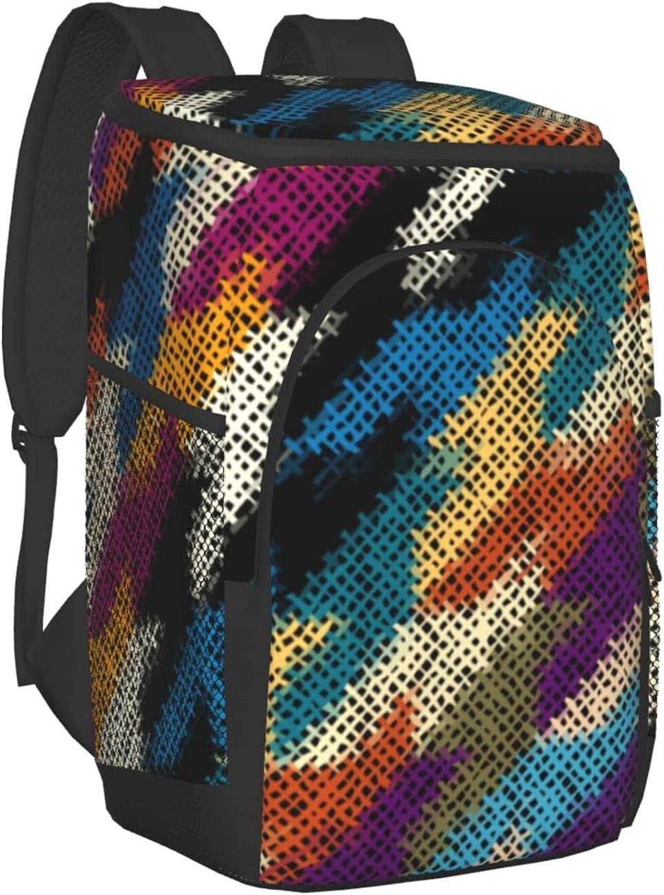 Spring new work one after another Black and White Canvas Texture 5% OFF Insulated Bag Backpack Lea Cooler