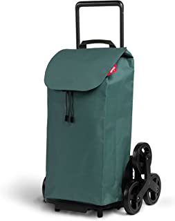 Gimi Wózek na zakupy z 6 kółkami, torba wodoszczelna, 100% poliester, pojemność 52 l, 44,1 x 50,7 x 95,6 cm, zielony, Grande