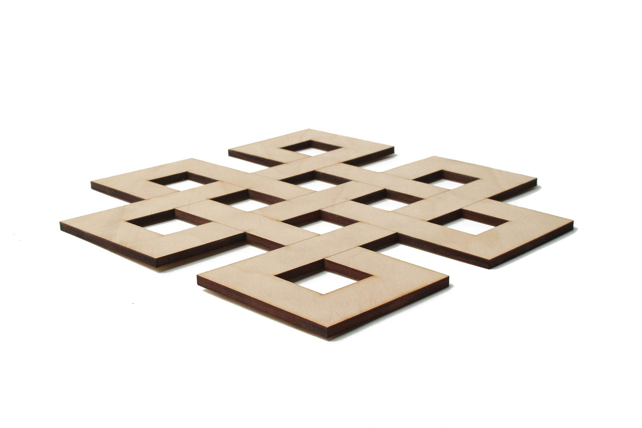Fourth Level Mfg. Designs Nudo infinito arte de pared de madera ...