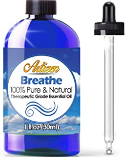 Artizen Breathe Blend Essential Oil (100% PURE & NATURAL - UNDILUTED) Therapeutic Grade - Huge 1oz Bottle - Perfect for Cold, Flu, Cough, Allergy, Congestion, and Sinus Relief