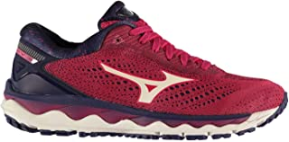 Official Brand Mizuno Wave Sky 3 Womens Running Shoes Trainers Rose/White Athleisure Sneakers