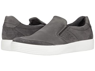 ECCO Soft Classic Slip-On (Magnet Calf Suede/Moonless Cow Nubuck) Men
