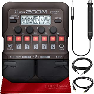 Zoom A1 FOUR Acoustic Instrument Multi-Effect Processor for Acoustic Guitar, Saxophone, Trumpet, Violin, Harmonica or Acou...