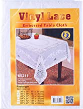"""Dolphin Collection Vinyl Lace Tablecloth, 30x48"""", Oblong"""