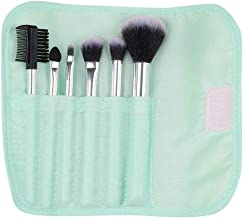 MINISO Makeup Brush Set 7PCS Foundation Brush Set for Face Makeup, Pale Turquoise