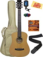 Tanglewood TW2TS Spruce Top Mahogany Travel Guitar Bundle with Gig Bag, Tuner, Strap, Strings, Picks, Instructional DVD, a...