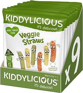 Kiddylicious Veggie Straws, 12g (Pack of 9)
