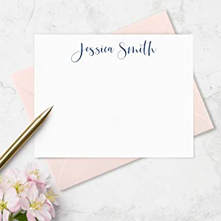 Personalized Note Cards & Envelopes Set - Boxed Stationery Set - Choose Your Colors