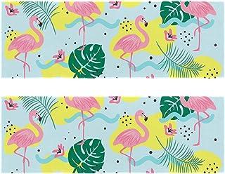 "2 Pack Cooling Towel (35""x12""), Quick Dry Travel Towel Flamingos Microfiber Towel for Sport"