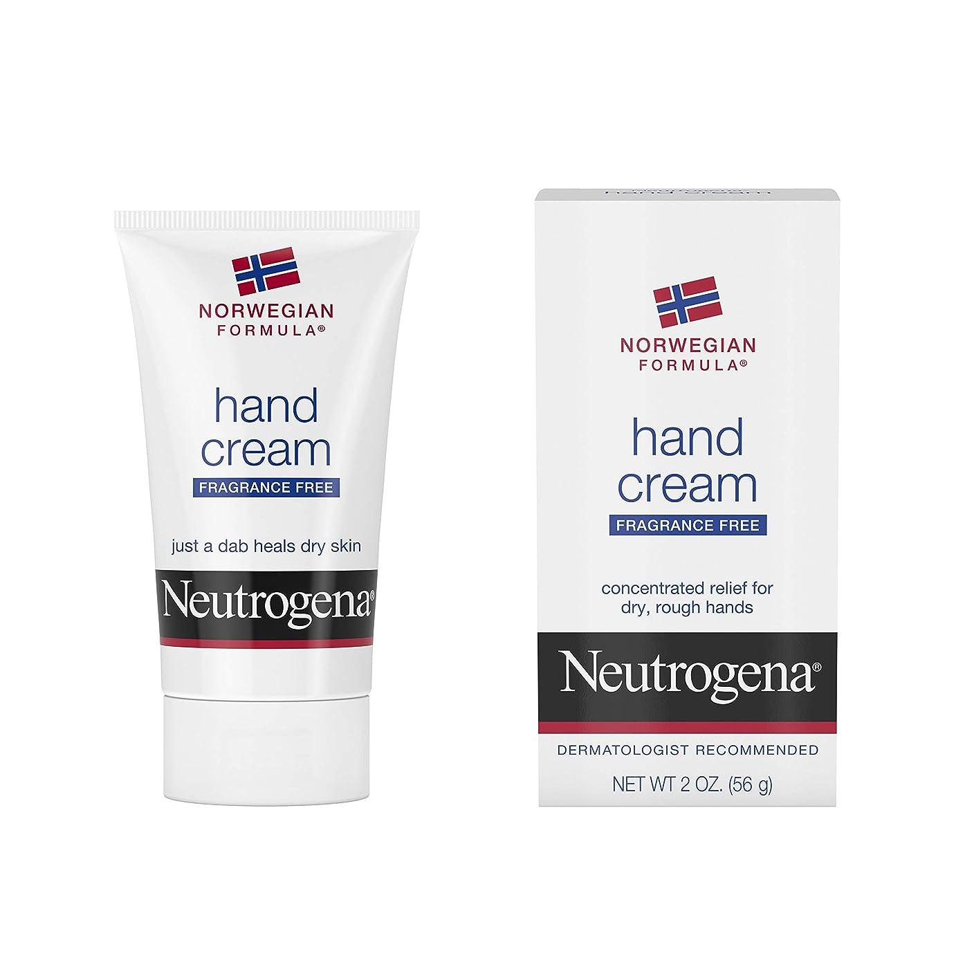 比較的好戦的な弾丸Neutrogena Norwegian Formula Hand Cream Fragrance-Free 60 ml (並行輸入品)