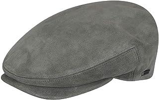 قبعة Kangol للرجال مصنوعة من الجلد المزغب، رمادي، مقاس XL