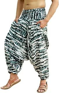 Mens Womens Rayon Tie Dyed Harem Pants Yoga Drop Crotch Trouser
