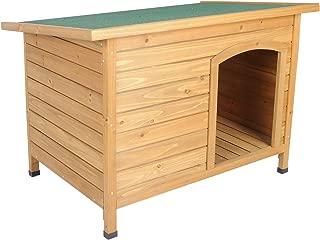 EUGAD Caseta de Madera Maciza para Perro Jaula Casa para