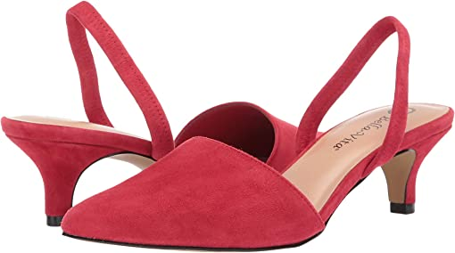 Red Suede Leather