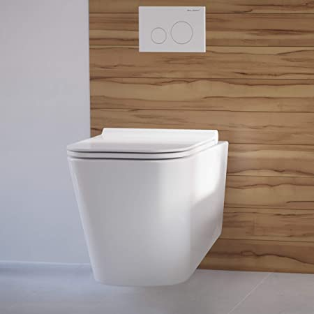 Swiss Madison Well Made Forever SM-WT442 Concorde Wall Hung Toilet Bowl, Glossy  White : Amazon.in: Home Improvement