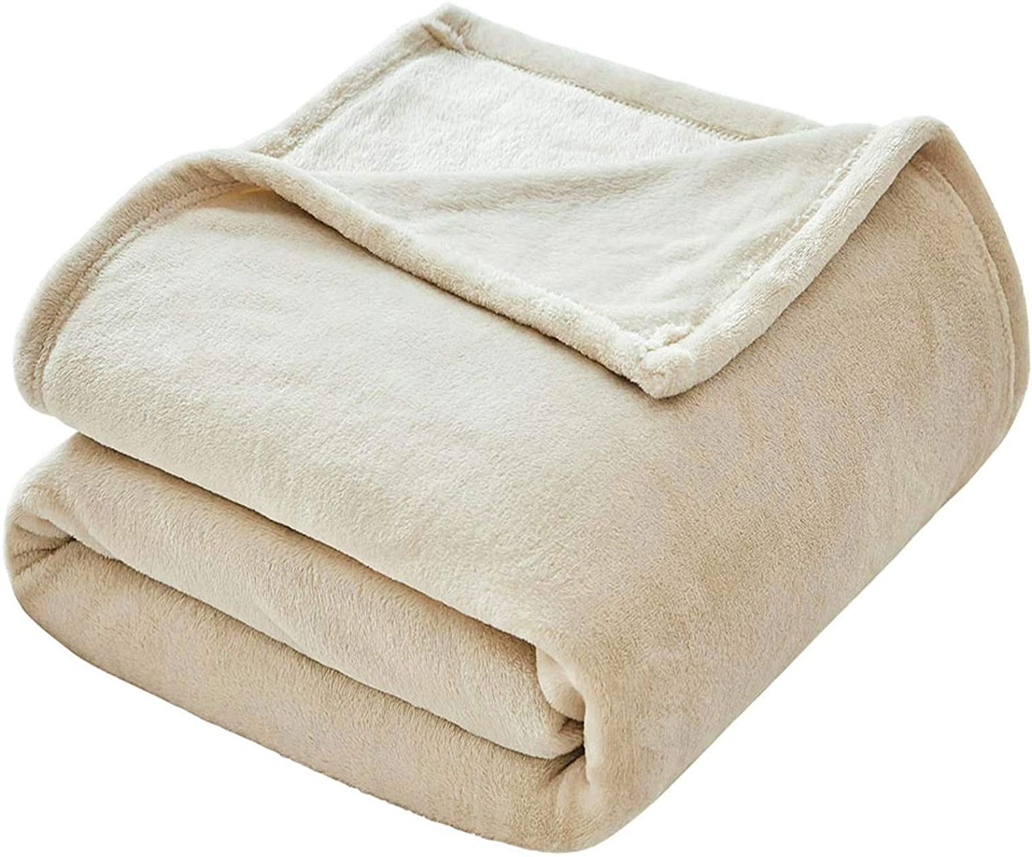 VEEYOO Flannel Fleece Blanket Twin Outlet sale feature Ivory Size - Throw Popular shop is the lowest price challenge fo