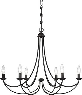 Quoizel MRN5006IB Mirren Farmhouse Chandelier Lighting, 6-Light, 360 Watts, Imperial Bronze (23