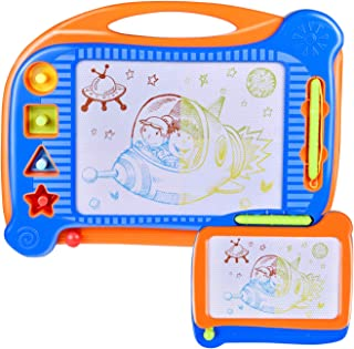 2 Magnetic Drawing Board, Doodle Drawing Board for Toddlers, Toddler Learning Toys for Writing, Sketching, Travel Toys for Kids Birthday Gift