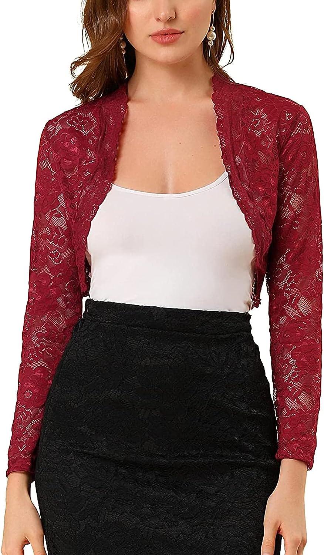 Yiiciovy Women Trendy Cropped Bolero Shrug Short/Long Sleeve Solid Open Front Summer Fall Cardigan Sweater Jacket for Dresses