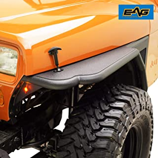 EAG Front Tube 3 inch Fender Flare Rocker Guard Fit for 87-96 Jeep Wrangler YJ