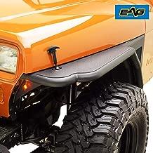 EAG Front Tube 3 inch Fender Flare Rocker Guard Fit for 87-96 Jeep Wrangler YJ