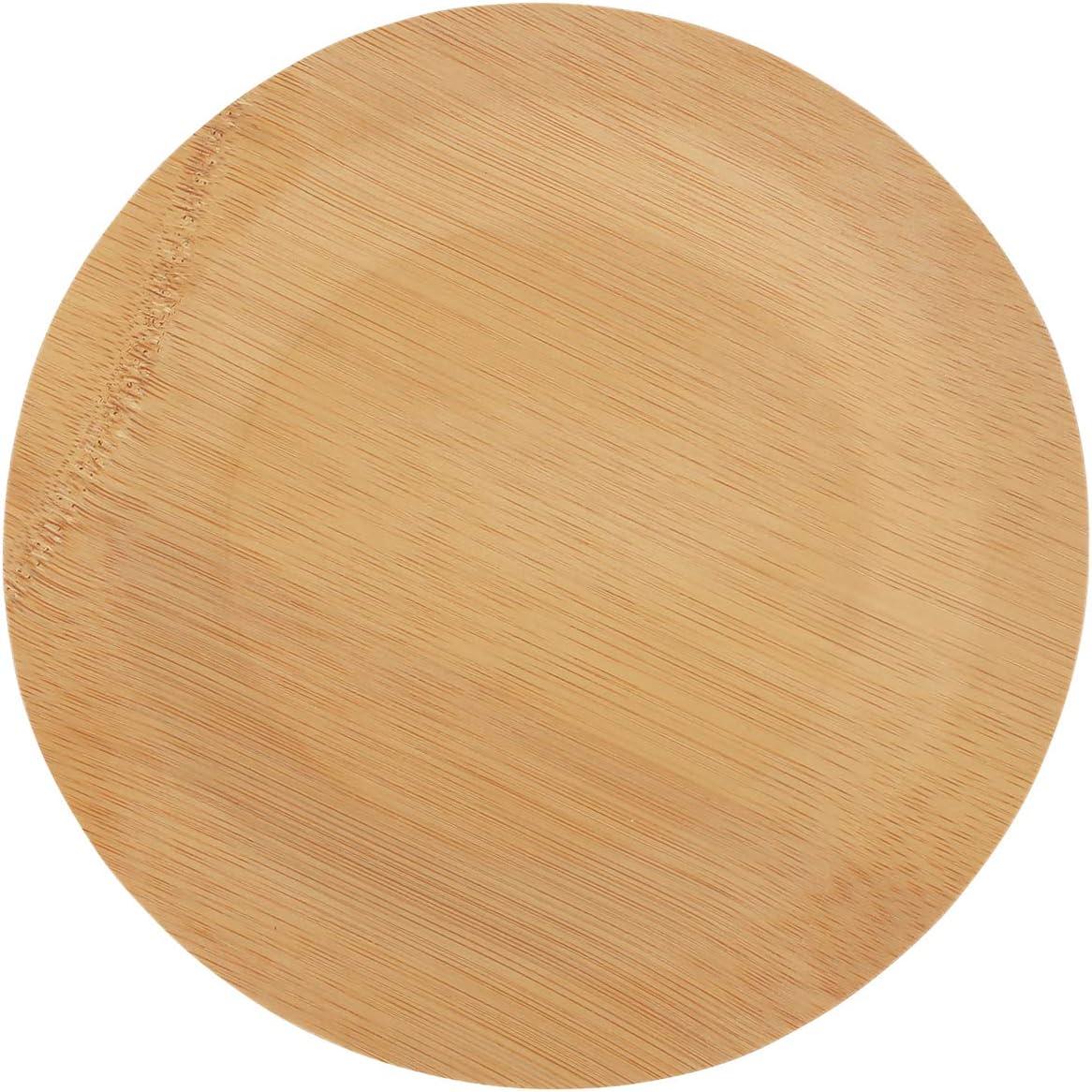 "Brheez 新品■送料無料■ 7"" Bamboo Veneer Disposable Eco-Friendly Plates Elegant - 捧呈"
