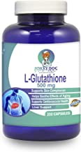 Glutathione 500 MG/Serving, Reduced Form, 200 Caps, Supports Liver, Cardiovascular, Brain & Skin Health, Eases Aging, Help...
