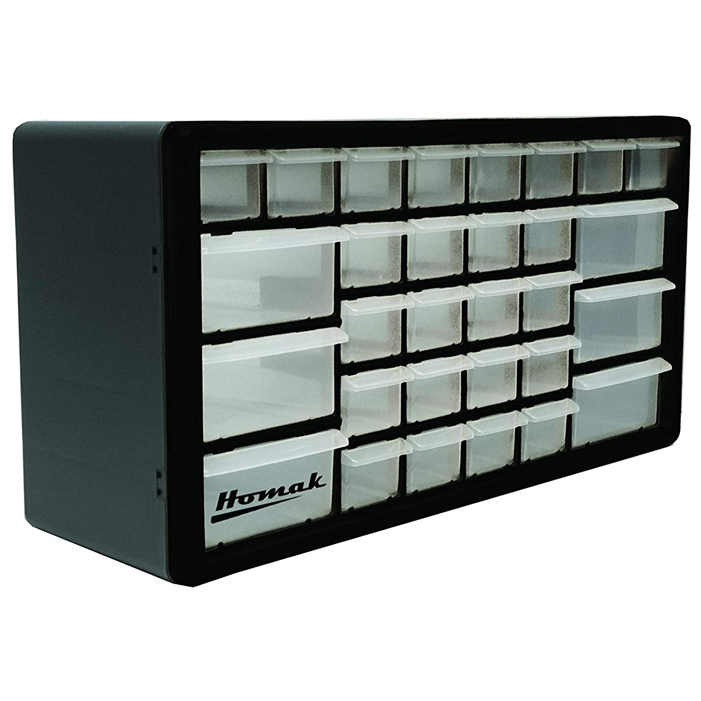 Homak 30-Drawer Parts Organizer, Black, HA01030102