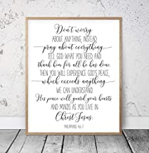 Philippians 4:6-7 Dont Worry About Anything Bible Verse Printable Wall Art Scripture Prints Christian Gifts Bible Verse Prints Kids Wood Plaque Home Decor