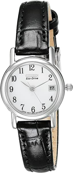 EW1270-06A Eco-Drive Leather Watch