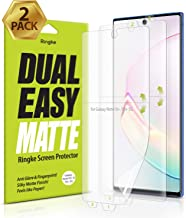Ringke Dual Easy Matte (2 Pack) Designed for Galaxy Note 10 Plus Screen Protector (2019)