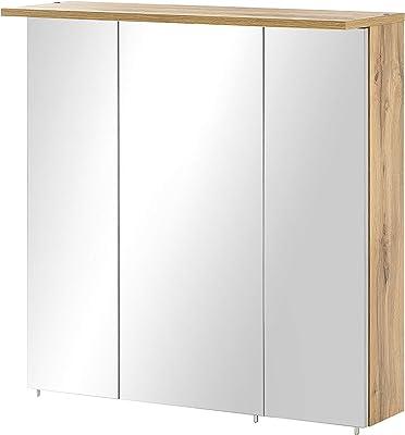 Milan Armoire à Miroir, Wotaneiche/Spiegel, 23,7 x 70,5 x 72,3 cm