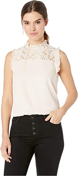 Tea Time Lace Yoke Top