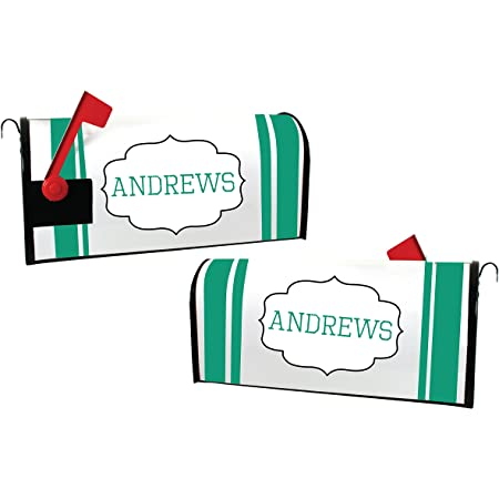 Amazon Com Custom Magnetic Mailbox Cover Personalized With Last Name Garden Outdoor