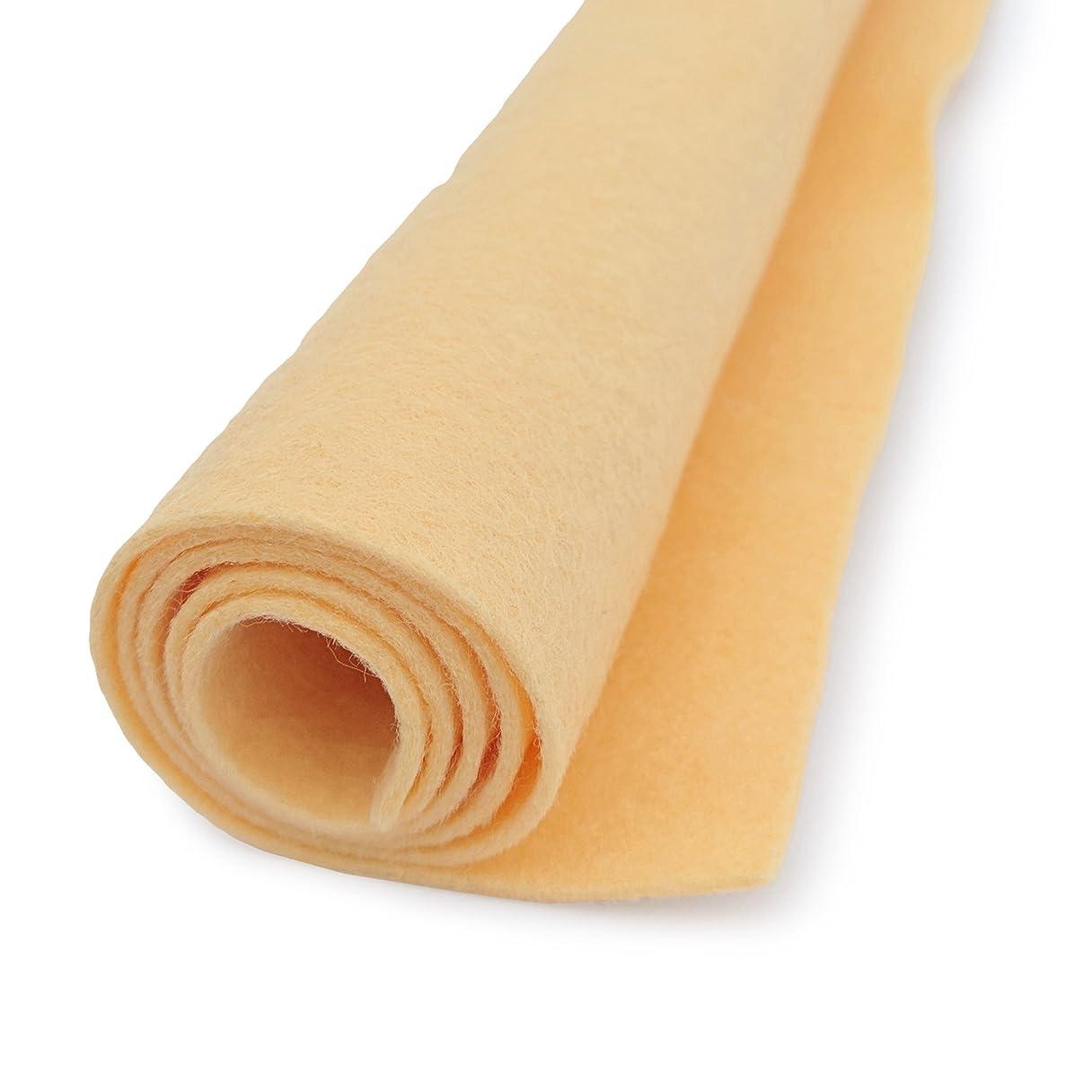 Native Maize Yellow - Wool Felt Giant Sheet - 35% Wool Blend - 1 36x36 inch XXL Sheet