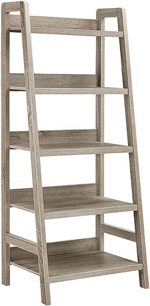 Linon 69336GRY01U Tracey Ladder 书架 25 W X 17 99 D X 60 H 灰色水洗