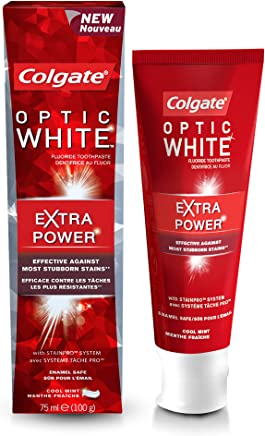 Colgate Optic White Extra Power Whitening Toothpaste, 75ml